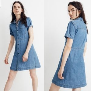 Madewell denim waisted shirtdress